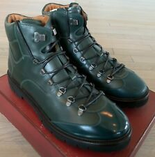 $1,200 Bally Charls 29 Green Leather Hiker Boots Size US 11 Made in Switzerland