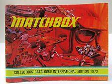 International Edit. 1972 MATCHBOX Diecast TOYS CATALOG England unused nm to mint