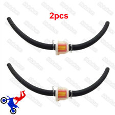 2x Gas Hose Line Fuel Filter For Mini Moto Dirt Pocket Bike Minimoto ATV Quad