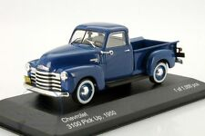 Chevrolet 3100 Pick Up 1950 - Blue 1:43 Metal Model Car. New Whitebox