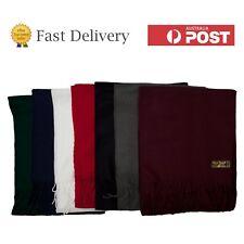 Boys Girls School Scarf Black White Grey Red Blue Green Soft Acrylic Wool Touch
