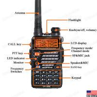 BAOFENG UV-5RE Dual Band Two-way Walkie-Talkie UHF/VHF 136-174/400-520MHz Radio
