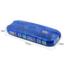KVM Umschalter Switch für 4 PC VGA PS2 #105