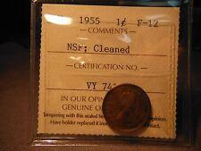 1955 NSF One Cent ***** No Shoulder Fold