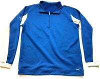 Nike Golf Lakewood Mens Blue Long Sleeve 1/4 Zip Jacket Size Large