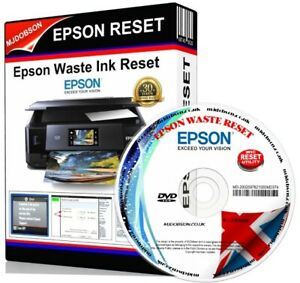 EPSON XP510,XP610,XP615,XP710,XP810,XP950 WASTE INK PAD FULL/SATURATED RESET CD