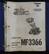 1965-75 MASSEY FERGUSON MF3366 MF 3366 BULLDOZER TRACTOR PARTS CATALOG MANUAL