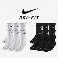 Nike Dri-Fit and Performance Cotton Crew Socks 6 Pack Nike Everyday Plus Cushion