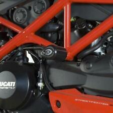 Moto anteriore e posteriore forcella della ruota paratelaio Crash Pads for Ducati Streetfighter 1098 Multistrada 1200 Multistrada 1200S Color : Front Black