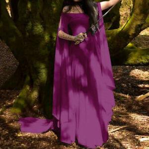 Women Long Medieval Renaissance Dress Gothic Vintage Halloween Cosplay