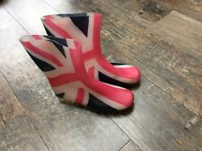 Atmosphere pink union jack welly boots - 38 - in great condition