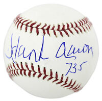 "Braves Hank Aaron ""755"" Authentic Signed Oml Baseball Autographed BAS #E21797"