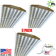 (QTY 3) 6 Lamp T8 LED High Bay 132Watt - Warehouse, Shop, BRIGHT, Light w/ GUARD