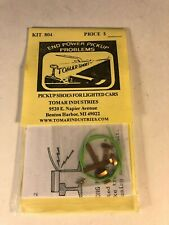 Tomar HO Scale PICKUP SHOES FOR LIGHTED CARS Kit #804 New!