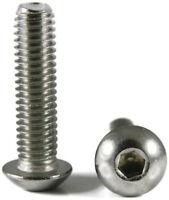 Stainless Steel Button Head Socket Cap Screw 10m x 1.5 x 30m Qty-250 Metric