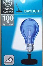 X2 GE 100w ES Screw Cap E27 Craft / Day Light Bulbs Sad Daylight