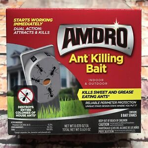 6x Amdro Indoor & Outdoor Ant Killing Bait - Destroys Entire Ant Colonies 8 Pack