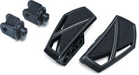 Kuryakyn Gloss Black Phantom Mini Floorboards Front Adapters Honda 750 Shadow