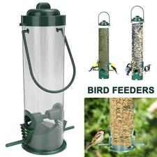 29cm Plastic Hanging Wild Bird Feed Seed Contain Storage Outdoor Garden Durable