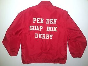 PEE DEE SOAP BOX DERBY VINTAGE JACKET RED 1960s 1970s FLORENCE SOUTH CAROLINA
