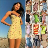UK Womens Summer Casual Mini Dress Party Cocktail Holiday Beach Dresses Sundress