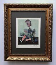 Pablo Picasso Original 1948 Hermoso Firmado Estampado Mate 11 X 14 + de La