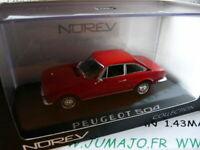 voiture 1/43 NOREV : PEUGEOT 504 coupé rouge MIB