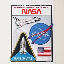 NASA Space Shuttle Pilot Iron-On Patch Super Set #105 - FREE POSTAGE!