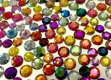 200 Irridescent Rhinestone Mix to Sew on - 12mm & 10mm Gems or Stick With Glue