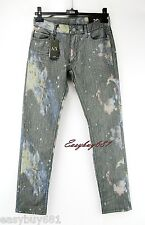 A|X ARMANI EXCHANGE J130 LOW RISE GRAY ORIGINAL HAND PAINTED JEANS SKINNY NEW 29
