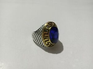 Solid 925 Sterling Silver Men's Ring Blue Sapphire Gemstone Handmade