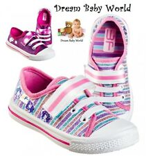 GLITTER GIRLS Canvas shoes trainers size 8.5 - 12 UK NEW toddler kids SHIMMER