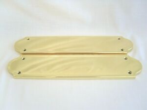Pair of Solid Brass Finger Plates - Door Plates - by Carlise Brass - 2 two