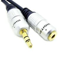 3.5mm Stereo Shielded Male To Female M / F Audio Jack Extension OFC Aux Jack 1m
