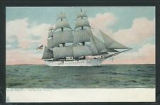 LITHO PC c.1905 US NAVY TRAINING SHIP SEVERN Full Rigged Sailing Vessel by Tuck
