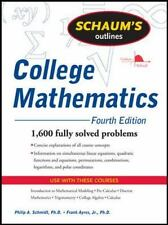 Schaum's Outline of College Mathematics (Paperback or Softback)