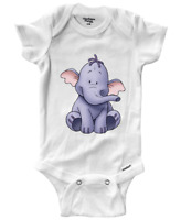Infant Gerber Baby Onesies Bodysuit Baby shower Gift Clothes Cute Baby Heffalump