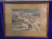 "Horst Heinen (1927-2001),Aquarell, ""Sylter Steilküste mit Dünen"""