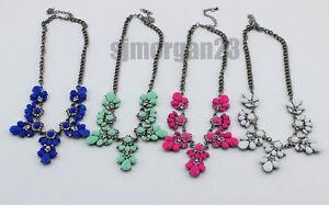 Women's Vintage Pendant Necklace Retro Style Flowers Necklace Choice Of Colours