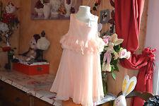 robe repetto neuve doublee petale 12 ans abricot