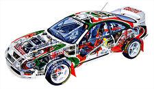 Toyota Celica WRC 6 Rally Cutout Over 1 Meter Wide 1 Piece XXL Poster Art Print!