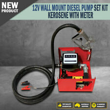 New 12V DC Electric Fuel Transfer Pump Kit Diesel Kerosene Oil Portable