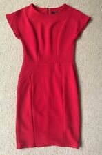 Therapy Red Fitted Pencil Dress Uk Size 8