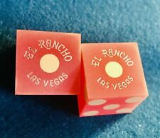 New ListingEl Rancho Hotel Casino - Pair Of Dice , Las Vegas, Strip - 1980's Original Dice