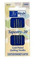 Birch Gold Plated Tapestry Needles Sizes 20