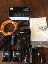 Nikon D610 24.3MP Digital SLR Camera Body Only