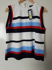 Marks & Spencer Vest/ Top Size 16 - Striped Sleeveless Top,New.