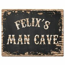 PP2993 FELIX'S MAN CAVE Plate Chic Sign Home Room Garage Decor Birthday Gift