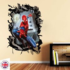 3D SPIDERMAN Wall Sticker Decal Mural Art Bedroom Poster Boys Kids MARVEL HULK