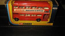 CORGI  TOYS #469 LONDON ROUTEMASTER DOUBLE DECKER BUS BTA MADE IN GB  BOXED